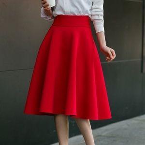 Dresses & Skirts - Red Vintage Skirt